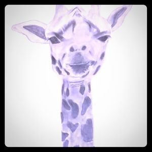 Giraffe Poster.  Black and white.